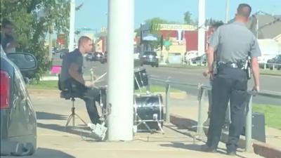 OKC Police Drummer