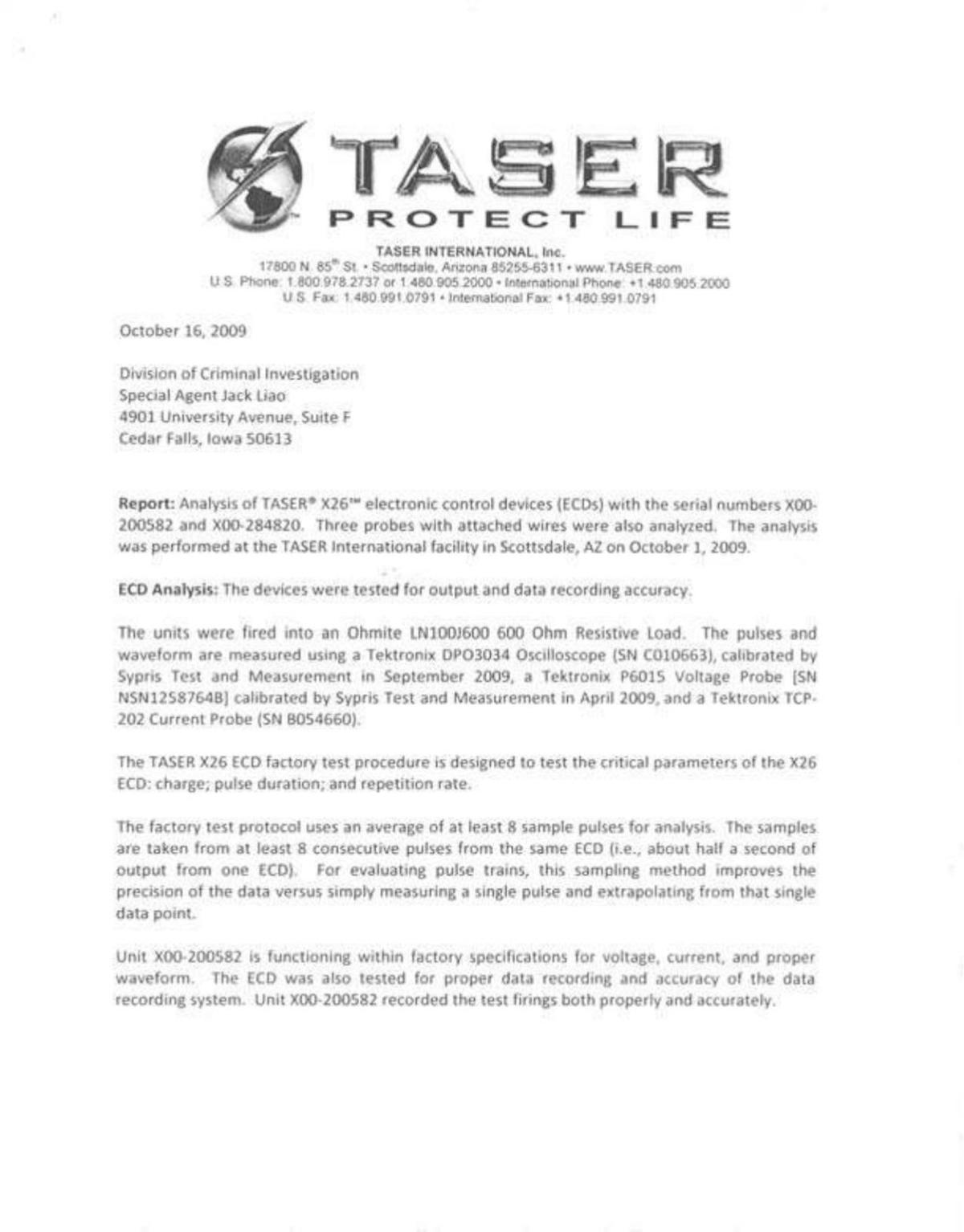 Read The Report From An Analysis Of Tasers Used On Eric Rule Voltage Divider Analyze And Design Download Pdf