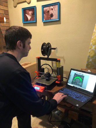 Jared Pirkl 3D printing face shield components