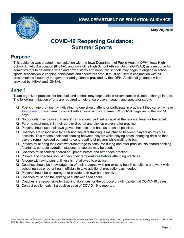 PDF: Iowa Department of Education Guidance