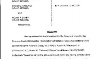 NFA Decision on PFGBest | | wcfcourier com