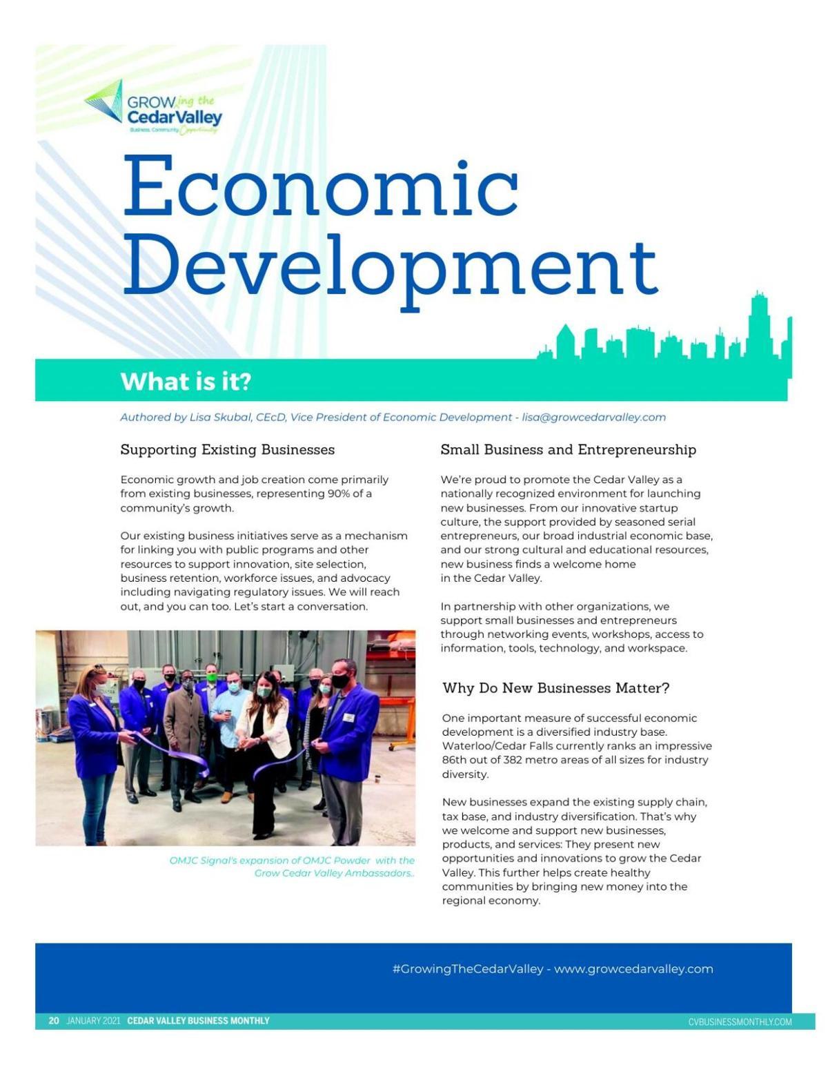 Grow Cedar Valley Newsletter - January 2021