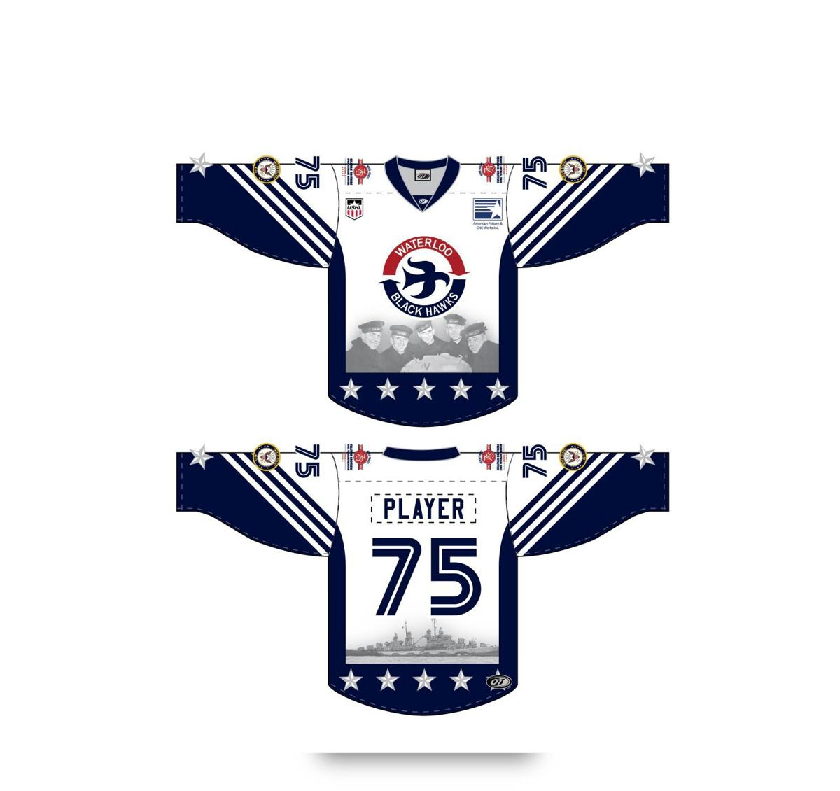 Sullivan Black Hawks hockey jerseys