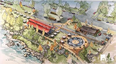 South Riverside Park rendering, Waverly