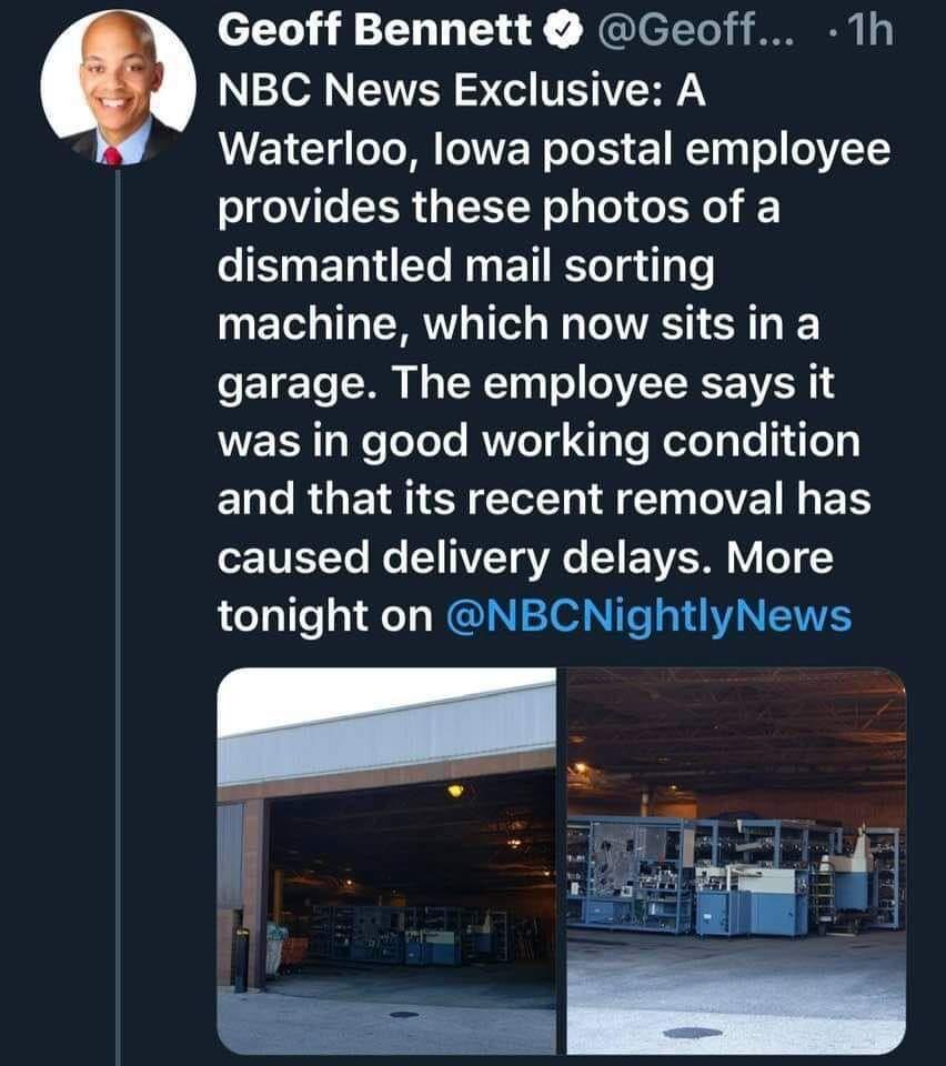 Twitter USPS post