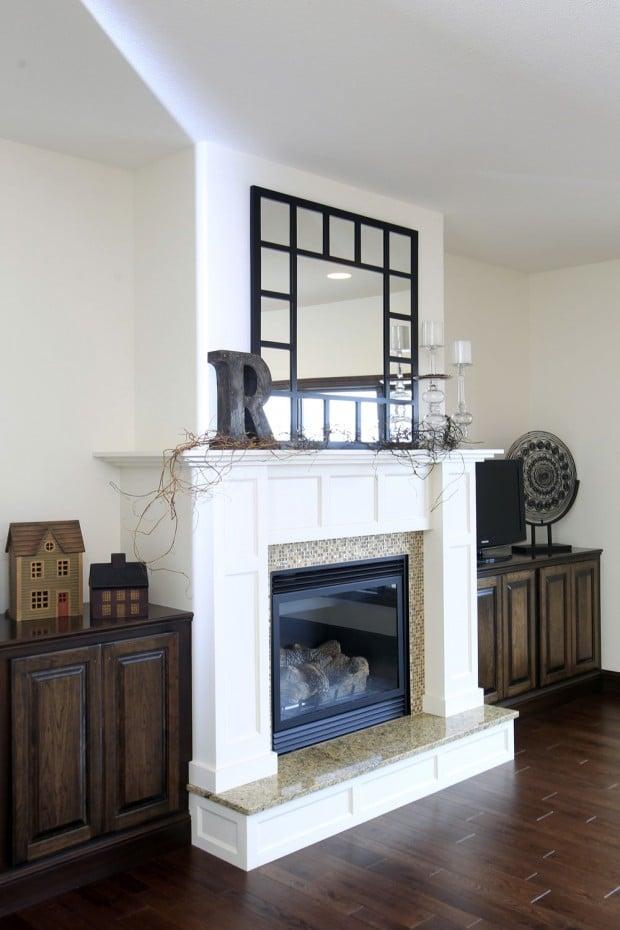 Antique White Fireplace Cedar Valley Home Amp Garden