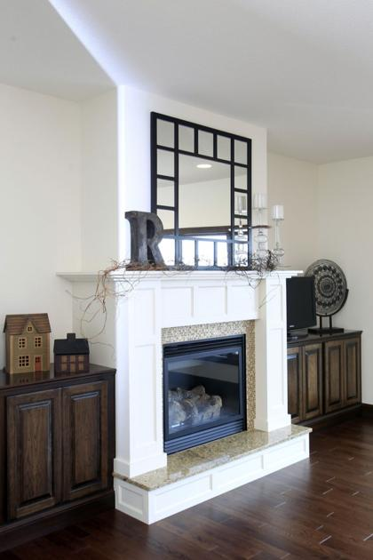 Antique White Fireplace Cedar Valley Home And Garden