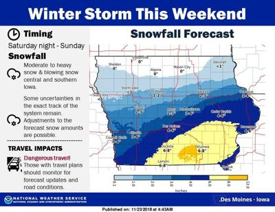 4 6 Inches Of Snow To Hit Cedar Rapids Des Moines Southern Iowa