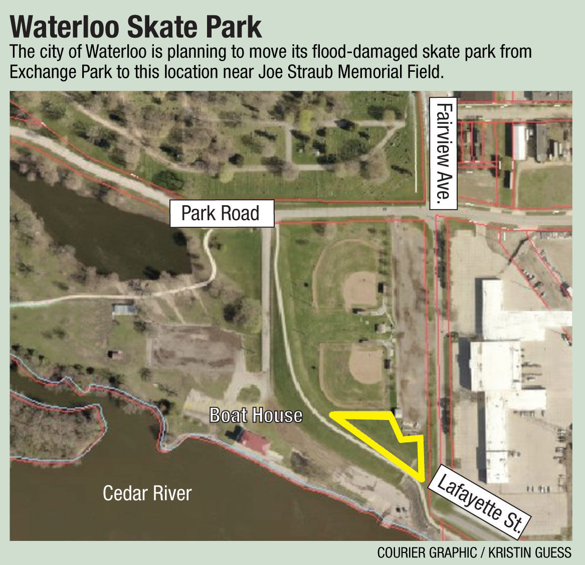 Waterloo Skate Park map