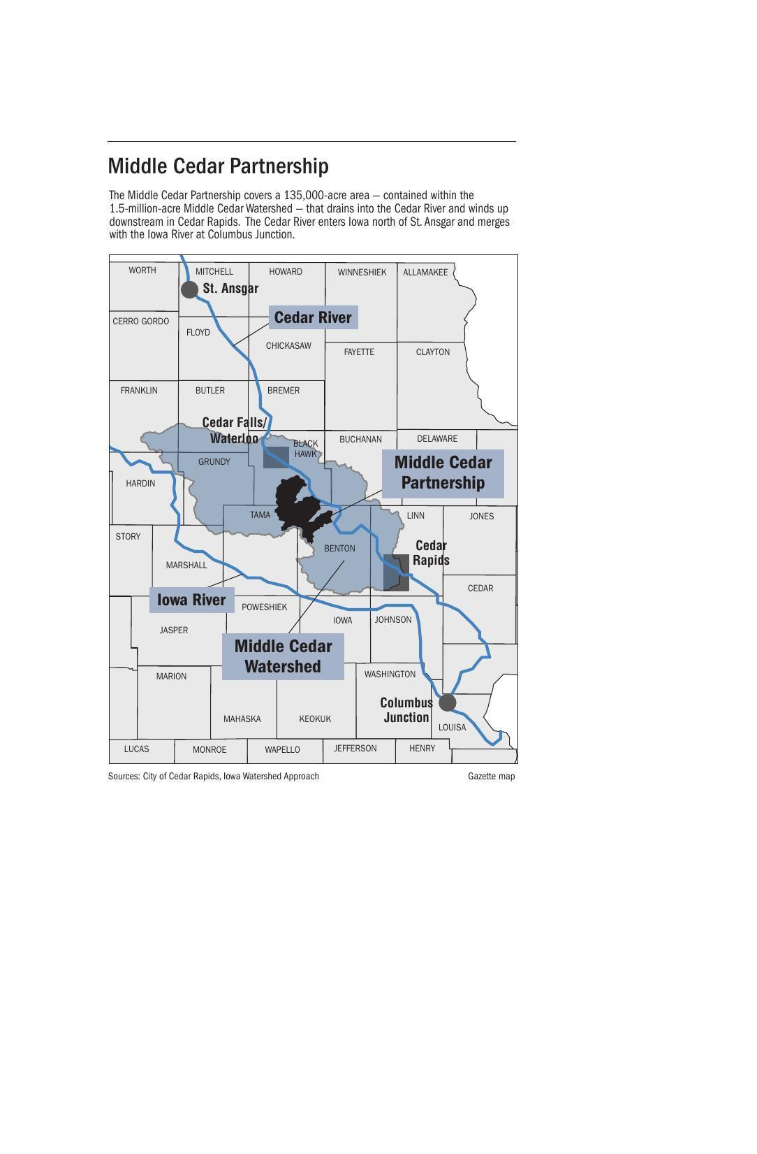 Cedar Watershed map