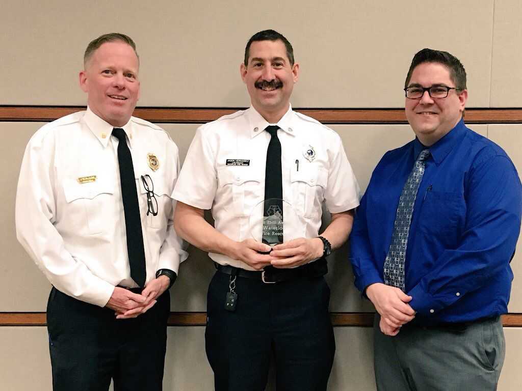 Waterloo Fire Rescue EMS award