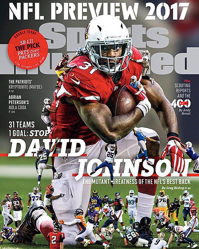 Former UNI star David Johnson on cover of Sports Illustrated