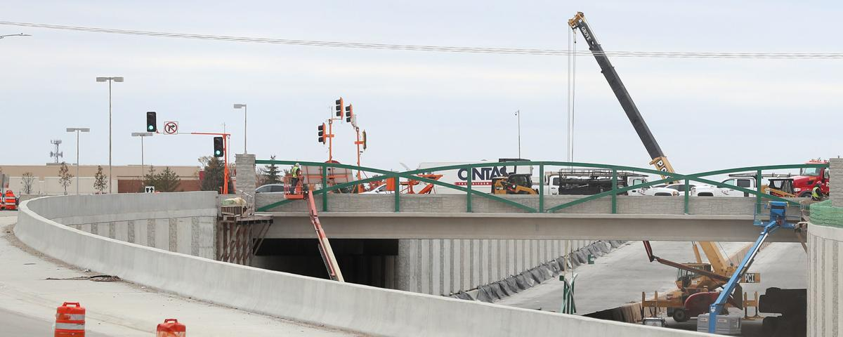 WORK PROGRESSING ON US 58-VIKING BRIDGE