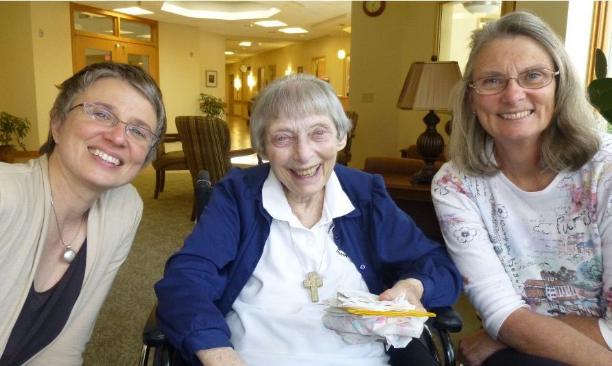 Sister Angelica, Judy, and Jennifer