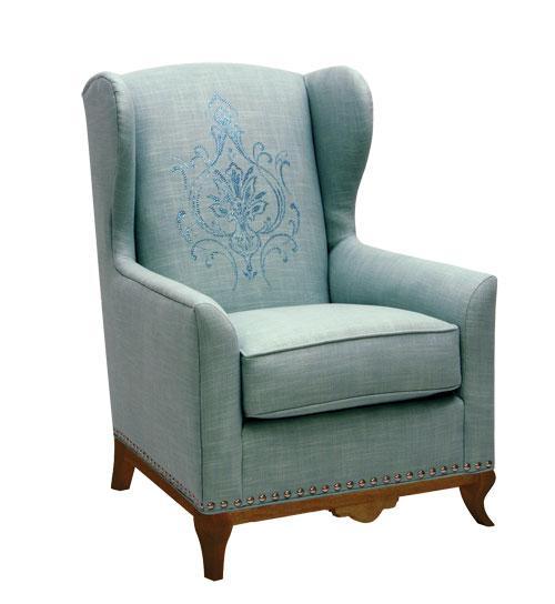 Modern Classic Wing Chair, Candice Olson Furniture Norwalk