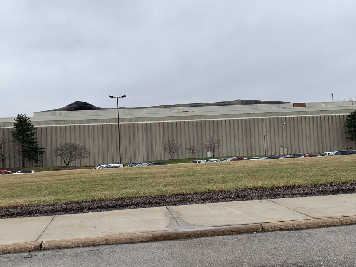Roof blows free at Deere Tractor Plant in Waterloo