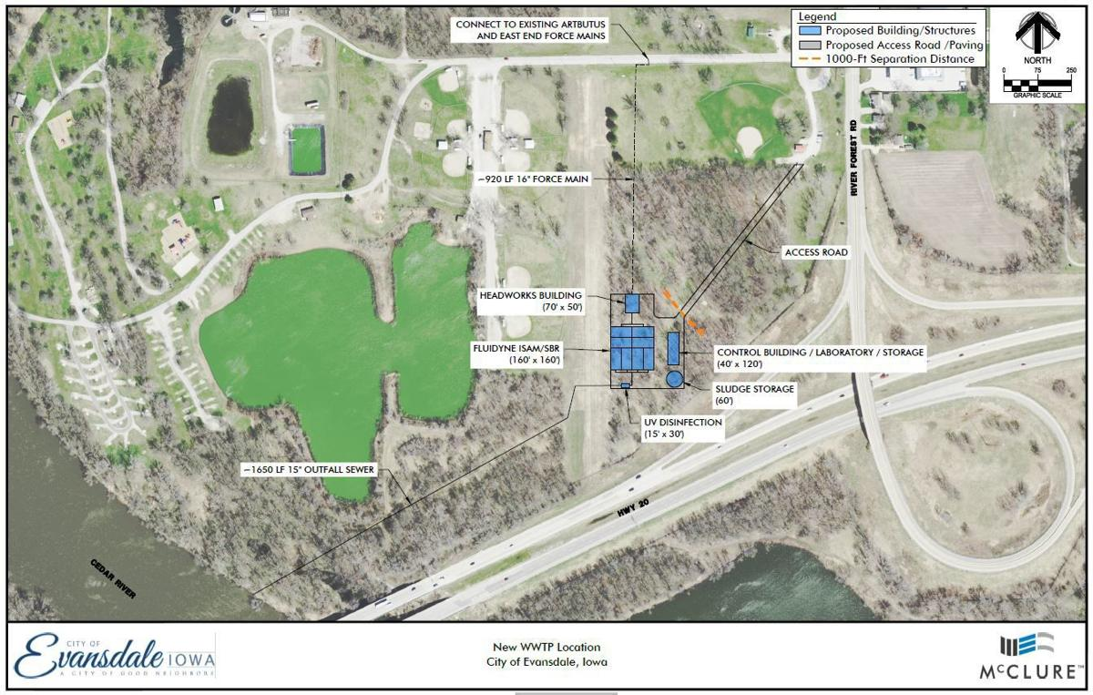 Evansdale Waste Water Plant - proposed new site