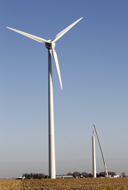 Repair resumes on wind turbines in Waverly | Business - Local News ...