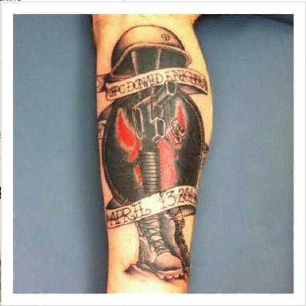 Tattoo honoring fallen...