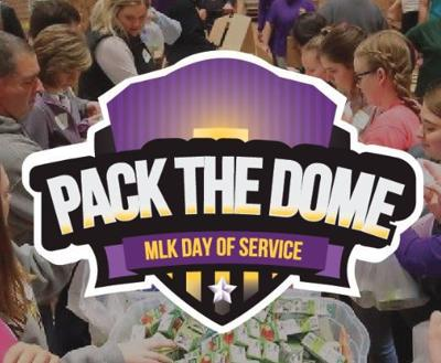 Pack the Dome logo