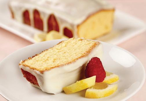 white chocolate and lemon glazed pound cake