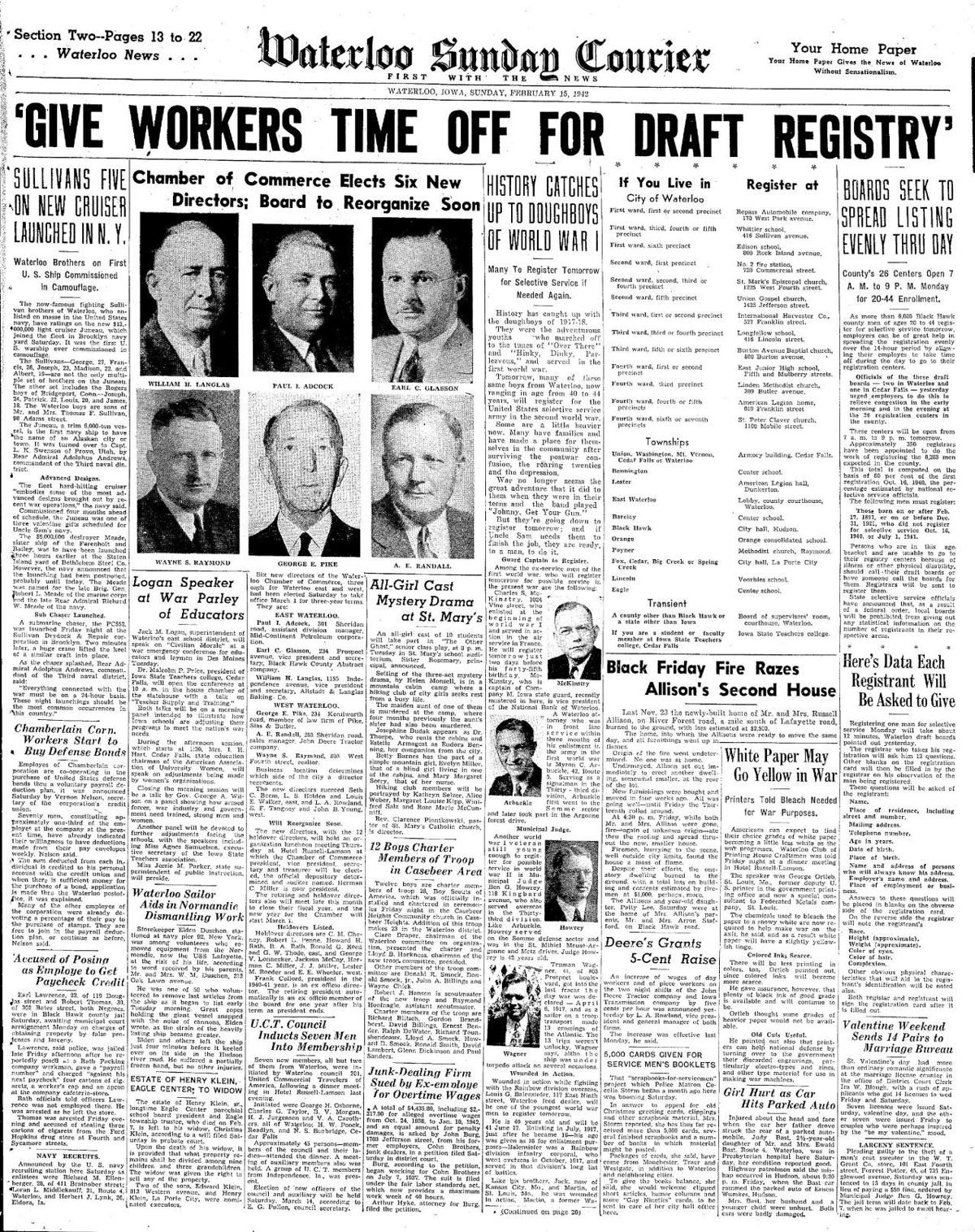 Courier Feb. 15, 1942