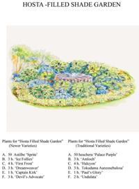 Hosta Garden Designs small leaf hosta tiny tears Made In The Shade Or Sun Green Scene Garden Designs Use Hostas