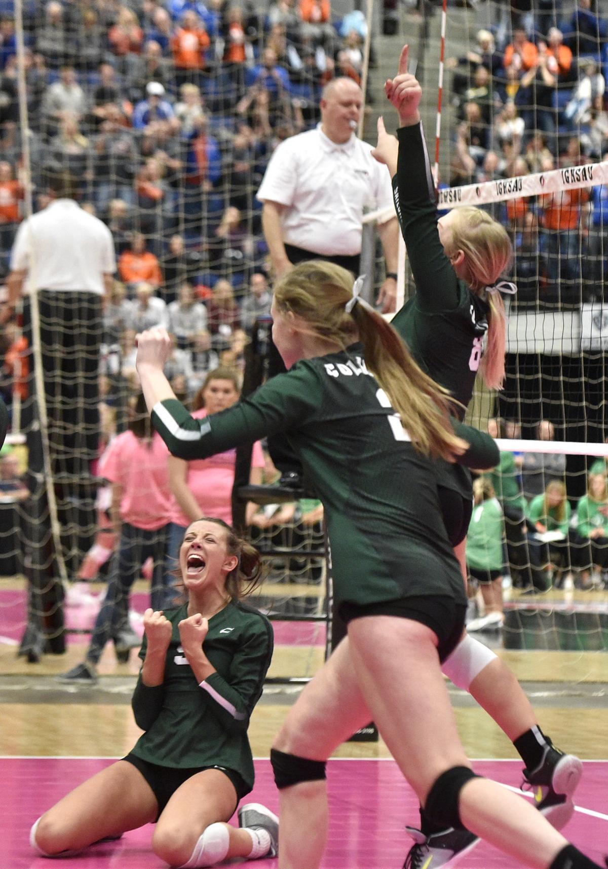 Columbus Catholic vs Kuemper Catholic state volleyball