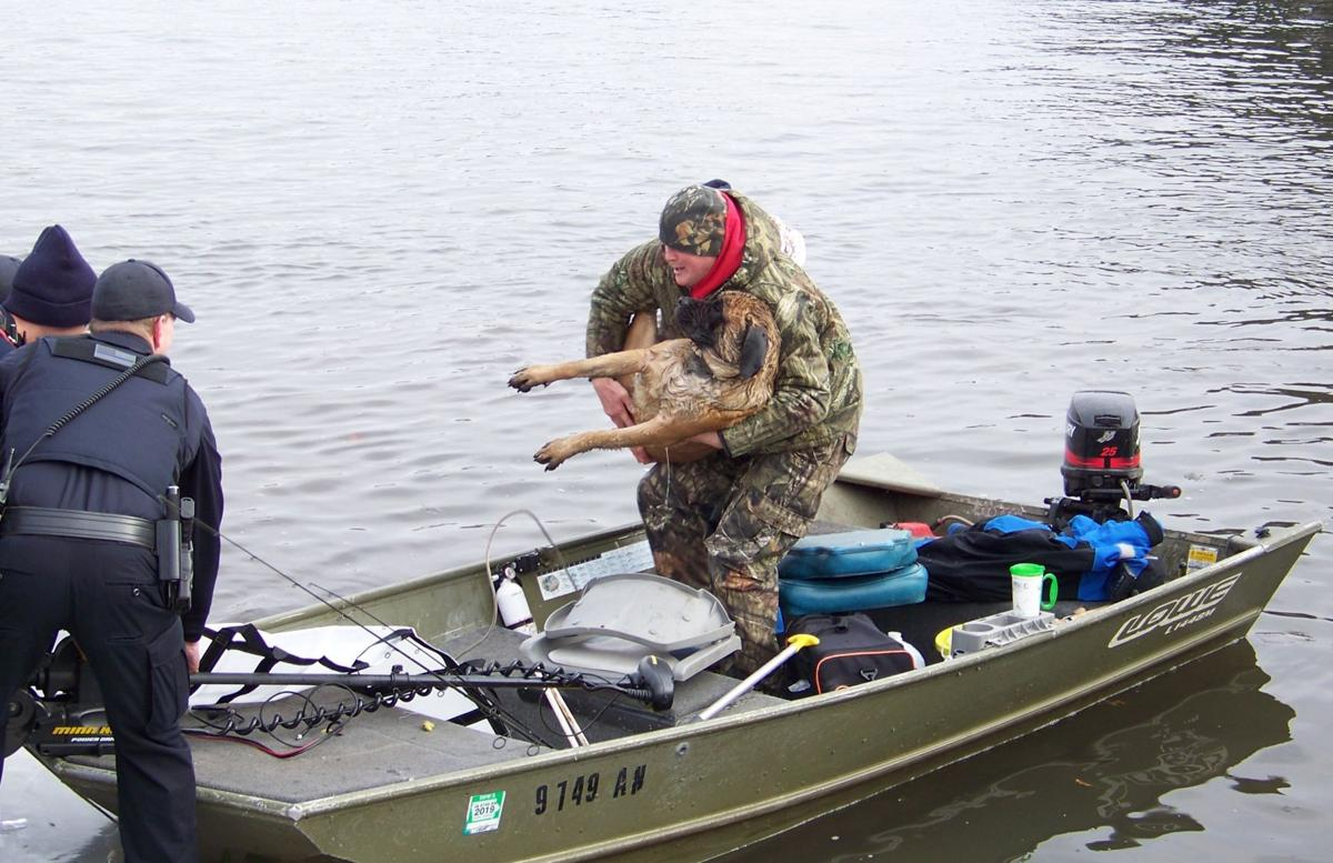 VIDEO: Fishermen rescue dog from frigid river | Local News ...