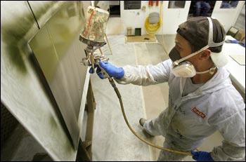 Military paint shop school tucked away in Cedar Falls