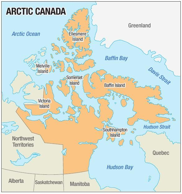 Arctic Map Canada Arctic Canada map     wcfcourier.com