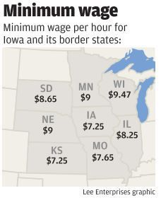 Iowa lawmakers to tackle minimum wage issue | Political News