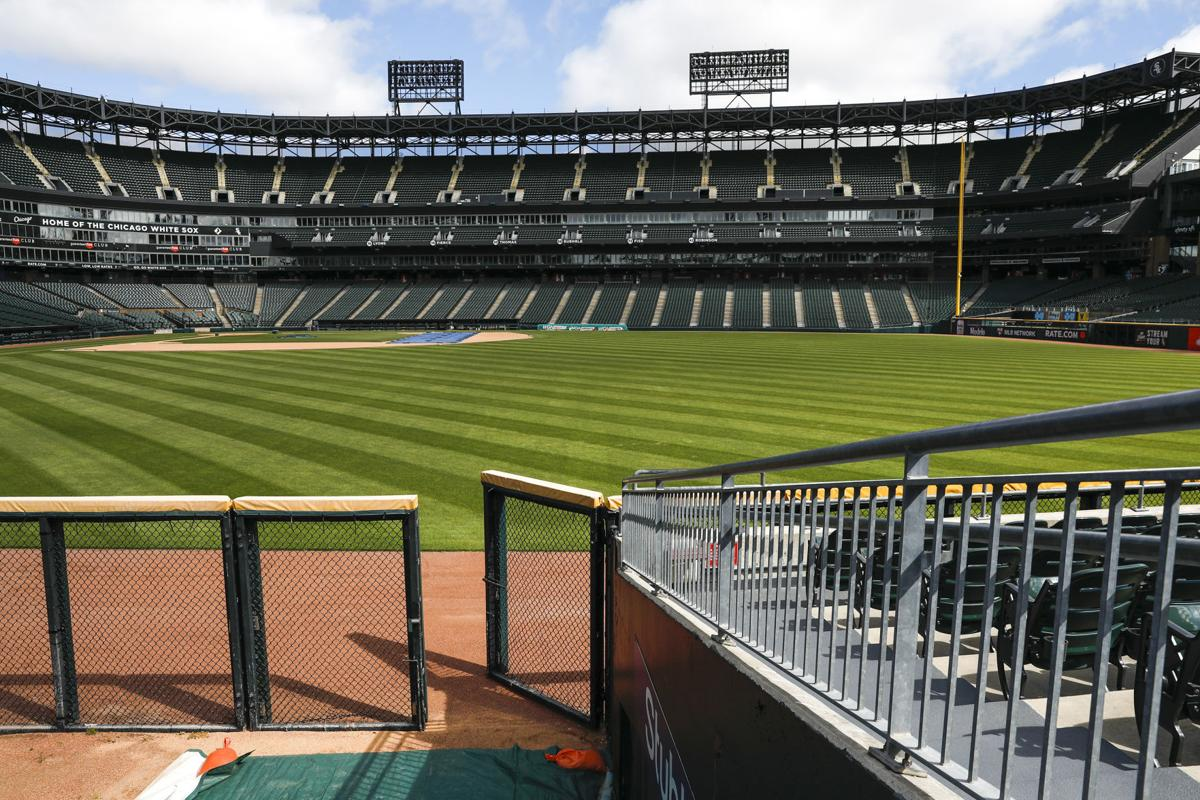 An empty Guaranteed Rate Field in Chicago, home of the Chicago White Sox, on Friday, May 8, 2020.
