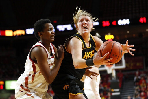 Iowa beats Iowa St. 75-69 for 4th straight win over Cyclones