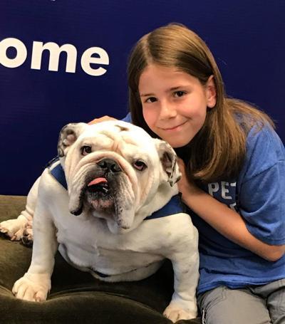 Gideon and bulldog