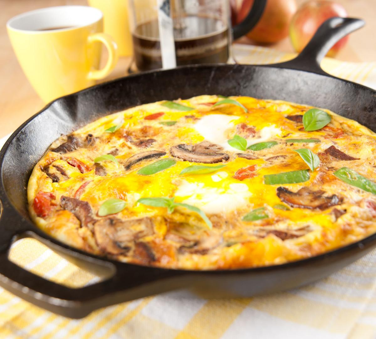 15-minute Parmesan Frittata for Two