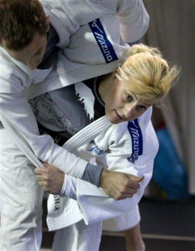 Female judoist using judo as sex
