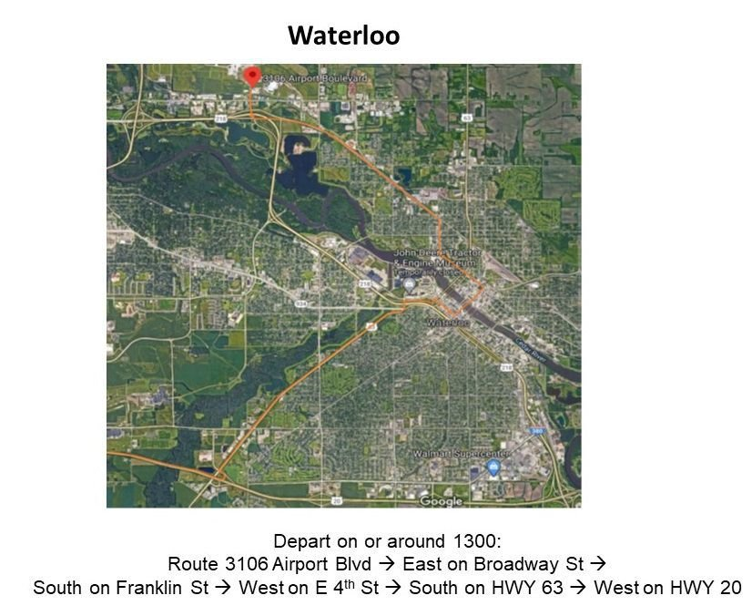 Waterloo National Guard Route