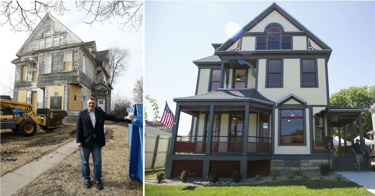 Judge Franklin Platt Home before and after