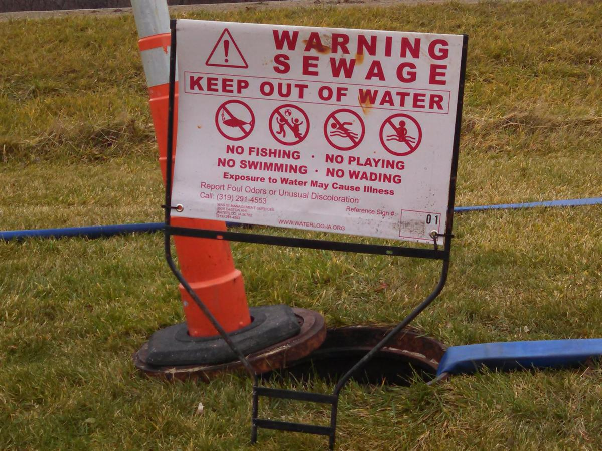 Upland Drive sanitary sewer overflow