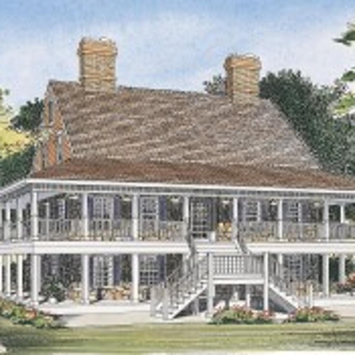 Two Levels Of Wrap Around Porches Promises Year Round Relaxation House Plans Wcfcourier Com