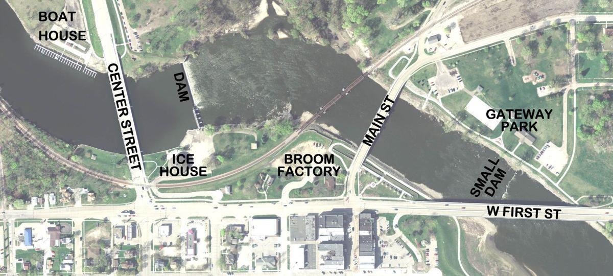Cedar Falls river/white-water project map