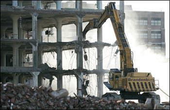 Huge old Deere buildings coming down at TechWorks