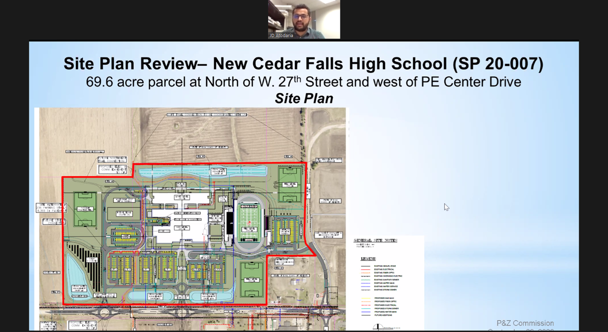 Cedar Falls High School site plan unveiled, Sept. 9, 2020
