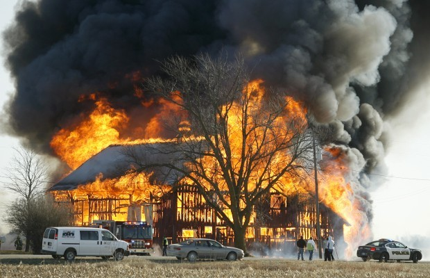 Barn near New Hampton destroyed by fire | Local News ...
