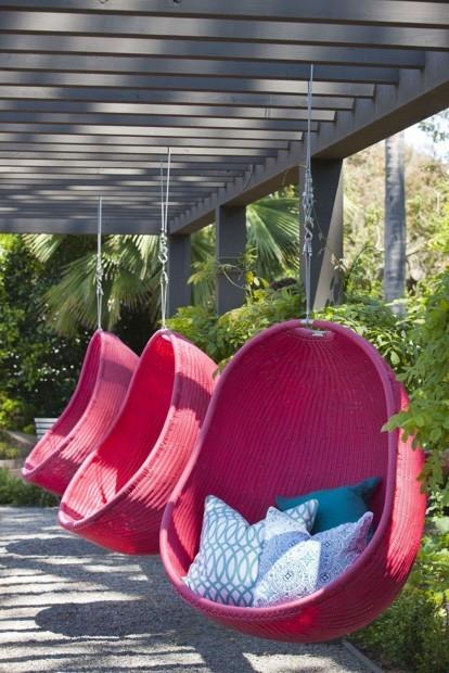Air Chair in cove pink rattan