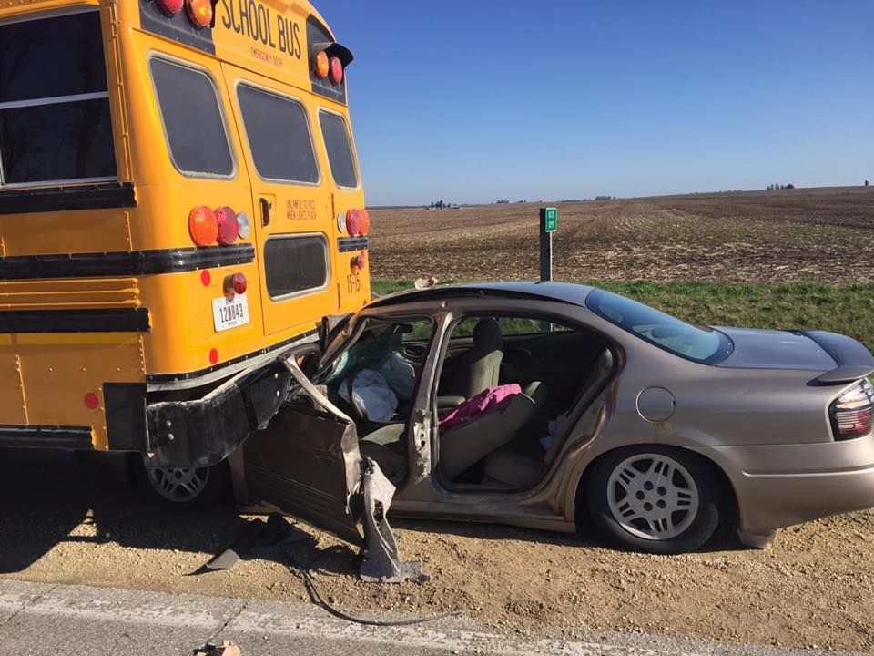 Car Crashes Into Bus Chicago