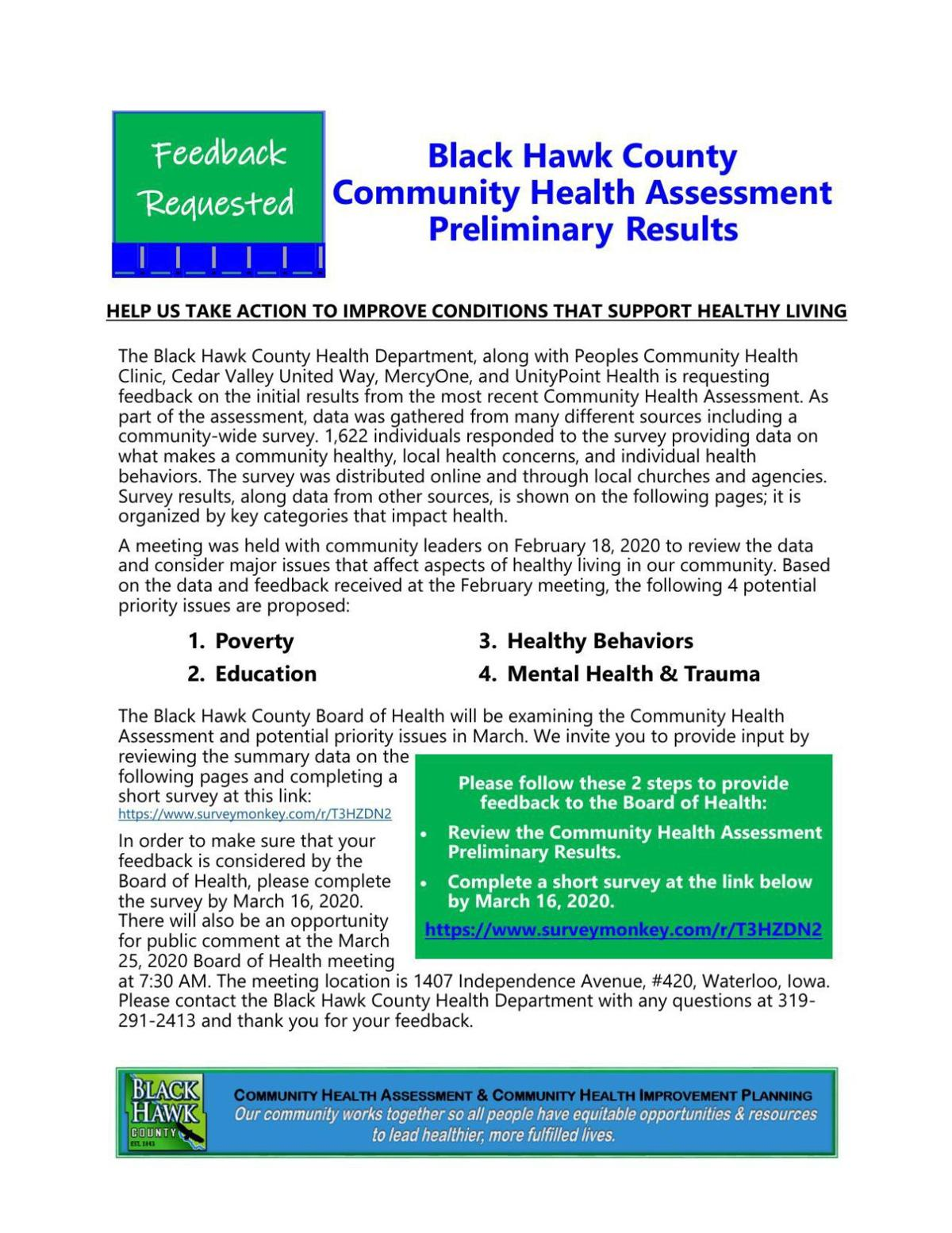 Black Hawk County Health Needs Assessment Page 8