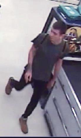Police seek male suspect