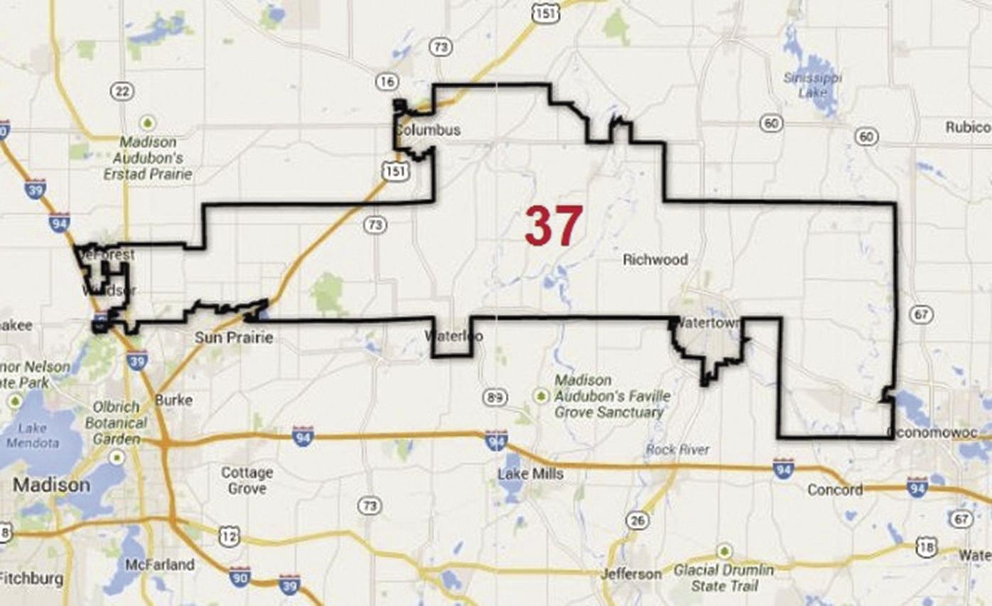 37th Assembly District Map